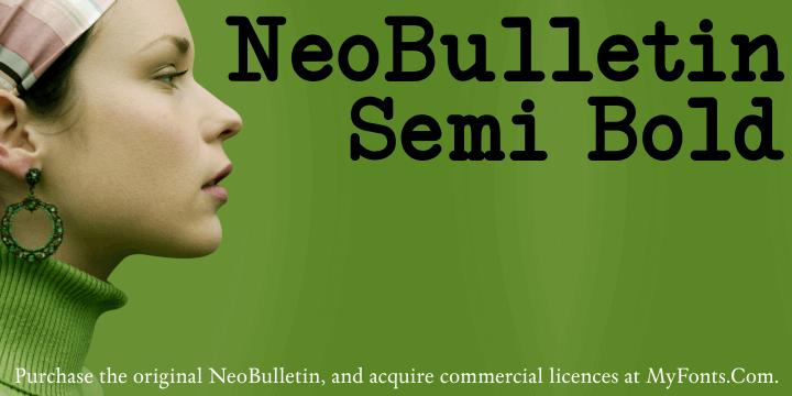 NeoBulletin Semi Bold font by Intellecta Design