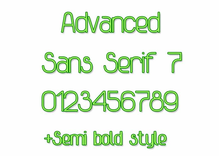 Advanced Sans Serif 7 font by Style-7