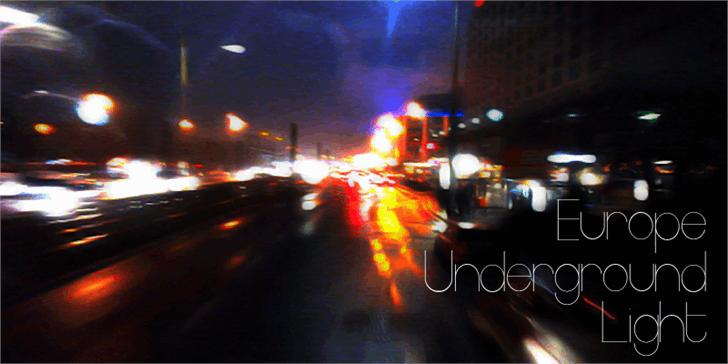 Europe Underground Light font by Måns Grebäck