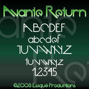Avante Return font by Essqué Productions