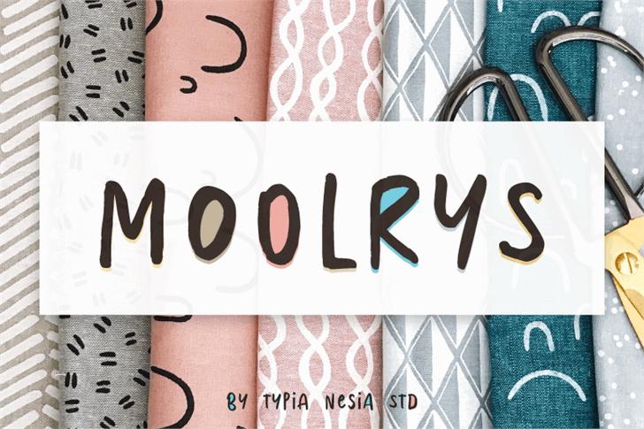 Moolrys font by Typia Nesia