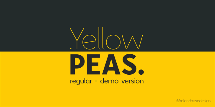 Yellow Peas font by Roland Huse Design
