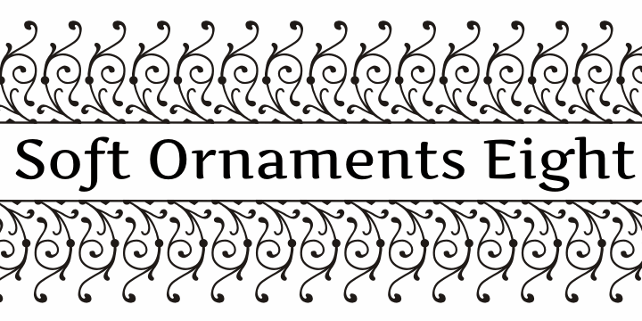 Soft Ornaments Eight font by Intellecta Design