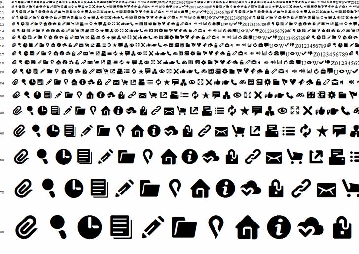 Breezi Icon Set font by Breezi