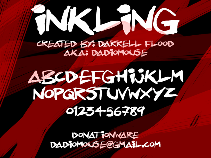 Inkling font by Darrell Flood