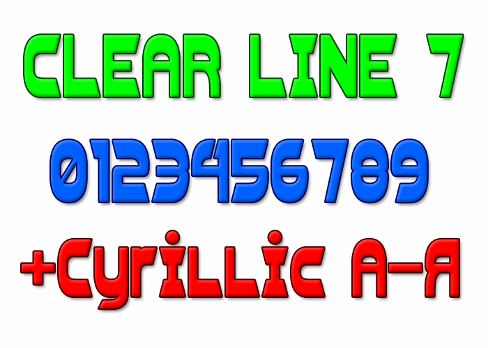 Clear Line 7 font by Style-7