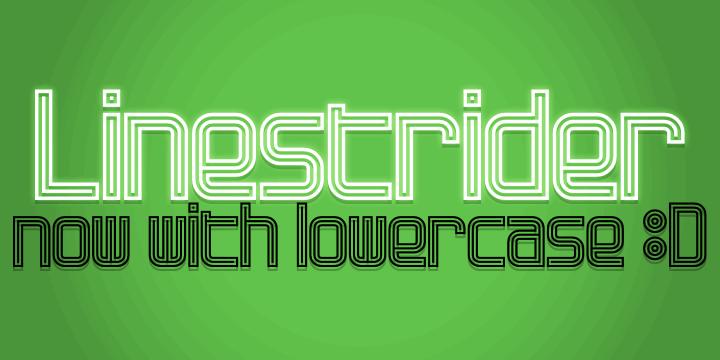 Linestrider font by Pixel Kitchen