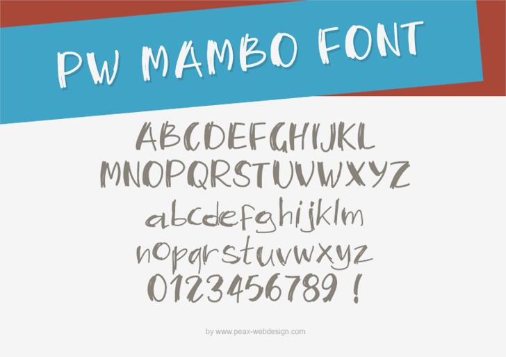 PWMambo font by Peax Webdesign