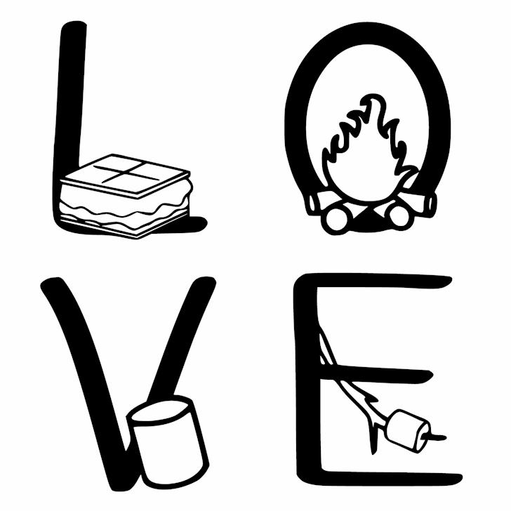 Ks I Love You Smore font by Pretty Little Line Designs