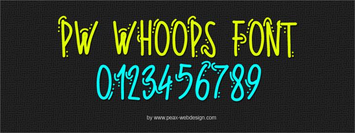 PWWhoops font by Peax Webdesign