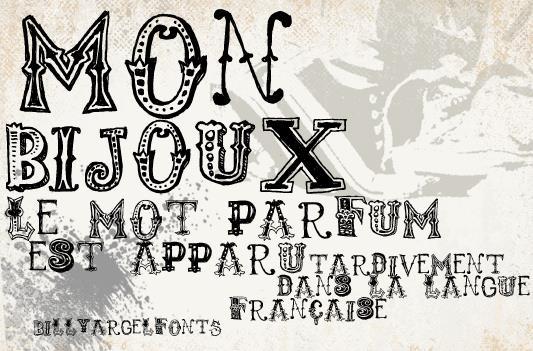 monbijoux font by Billy Argel