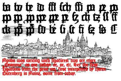MonksWriting font by Manfred Klein