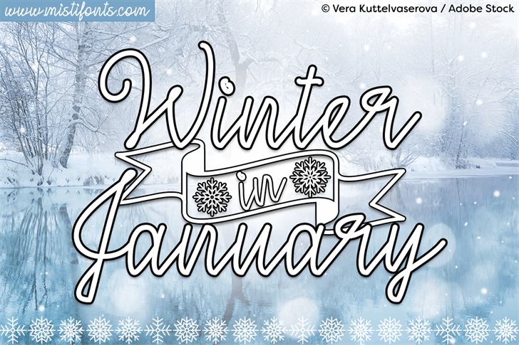 Winter in January font by Misti's Fonts