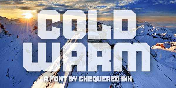 Cold Warm font by Chequered Ink