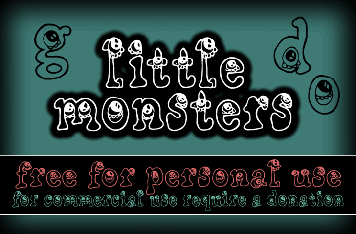 CF Little Monsters font by CloutierFontes