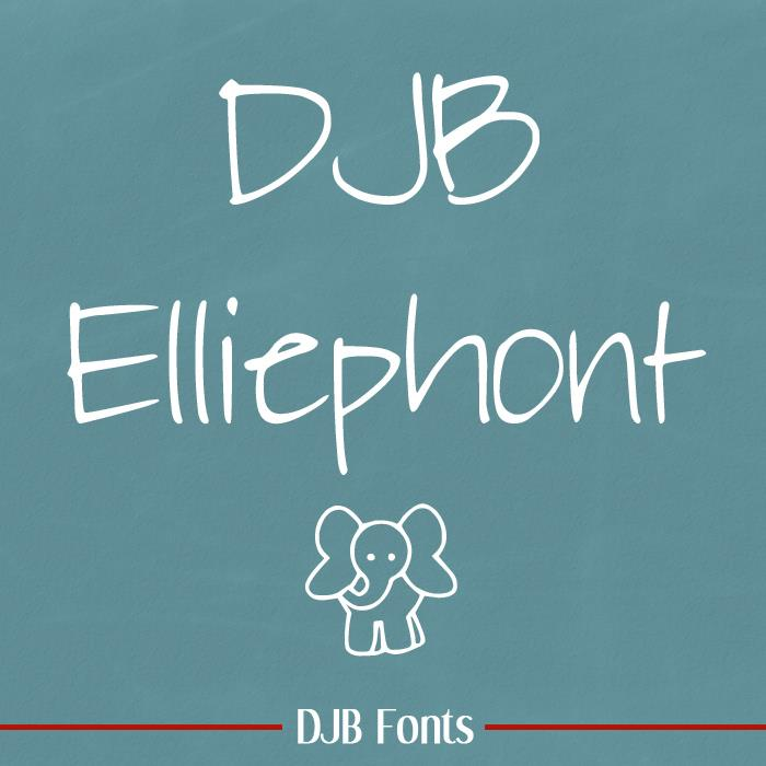 DJB Elliephont font by Darcy Baldwin Fonts