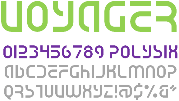 Voyager NBP font by total FontGeek DTF, Ltd.