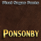 Ponsonby font by Pixel Sagas