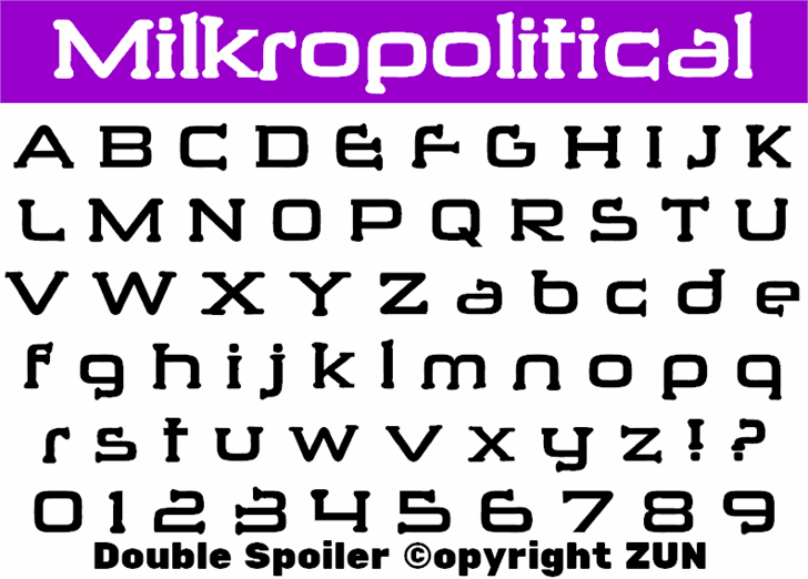 Milkropolitical font by heaven castro