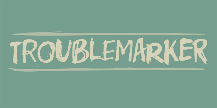 Troublemarker DEMO font by pizzadude.dk