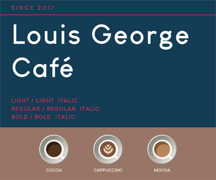 Louis George Café font by Yining Chen