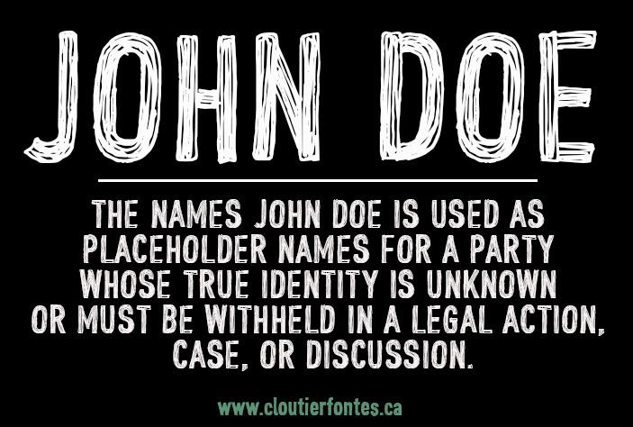 CF John Doe PERSONAL USE font by CloutierFontes
