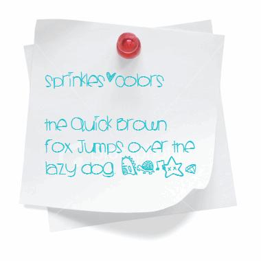 Sprinklescolors font by Des