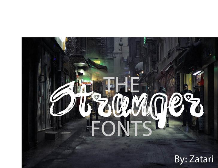 brush font by Zatari