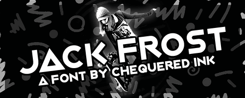 Jack Frost font by Chequered Ink