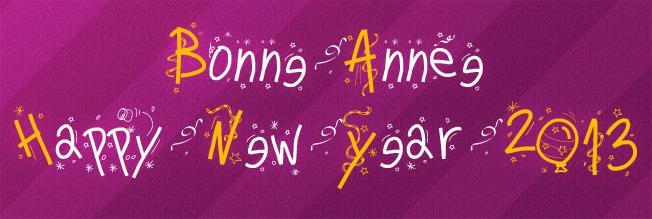 PWHappyNewYear font by Peax Webdesign