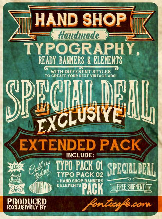 Hand Shop Typography A20_demo font by FontsCafe