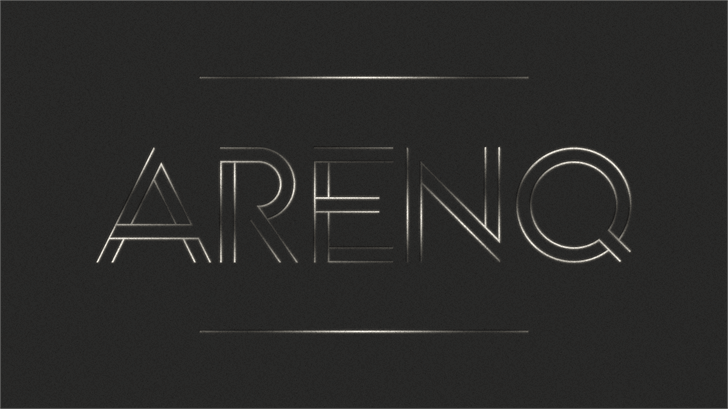 Arenq font by Paulo R