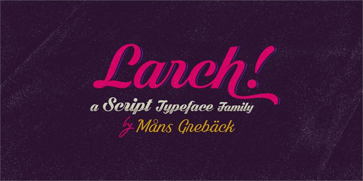 Dark Larch PERSONAL USE ONLY font by Måns Grebäck