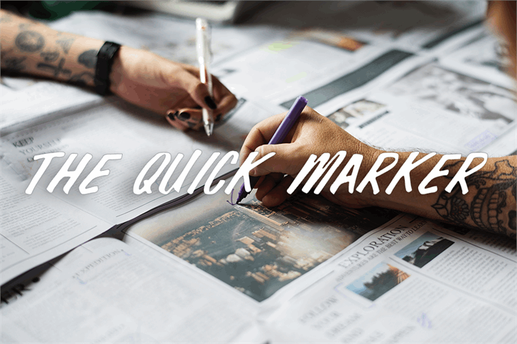 The Quick Marker font by Font Monger