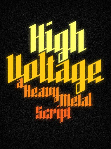 High Voltage font by Tobias
