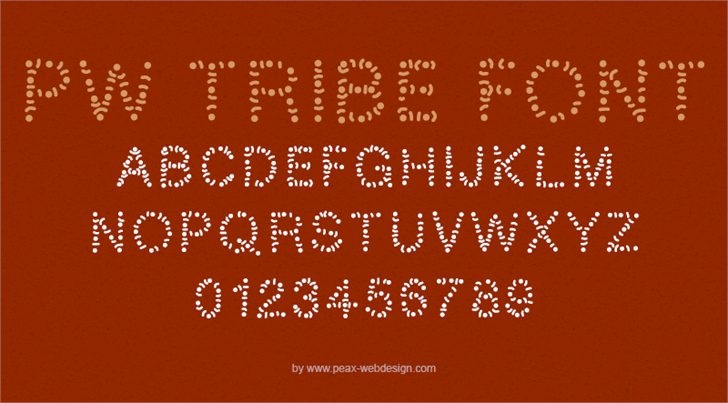 PWTribe font by Peax Webdesign
