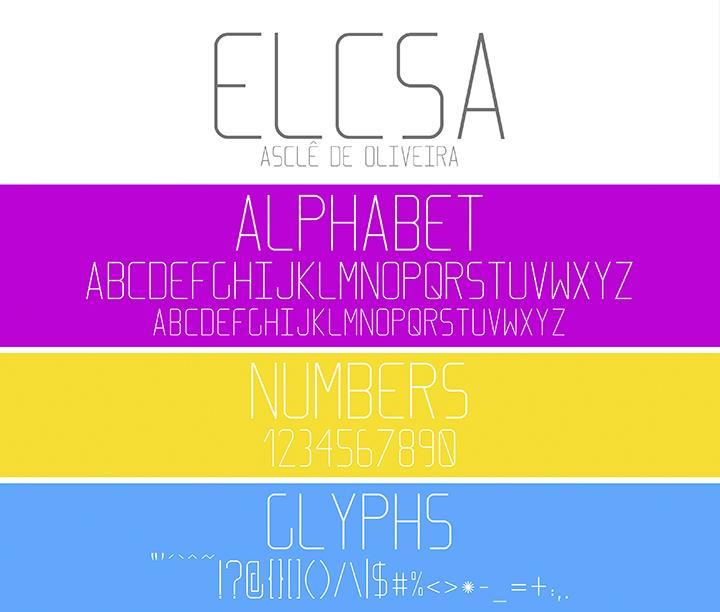 Elcsa font by Asclê de Oliveira