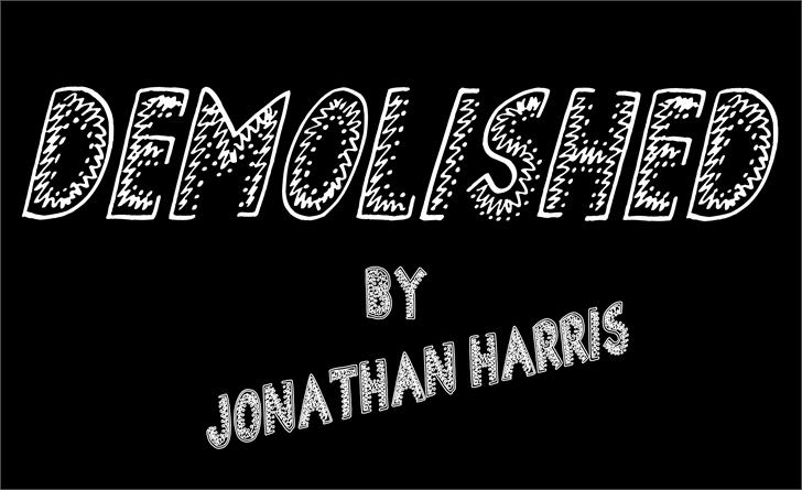 Demolished font by Jonathan S. Harris