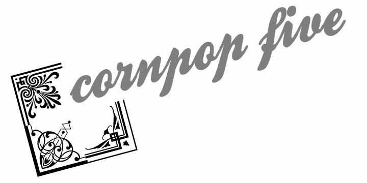 Corn Pop Five font by Intellecta Design