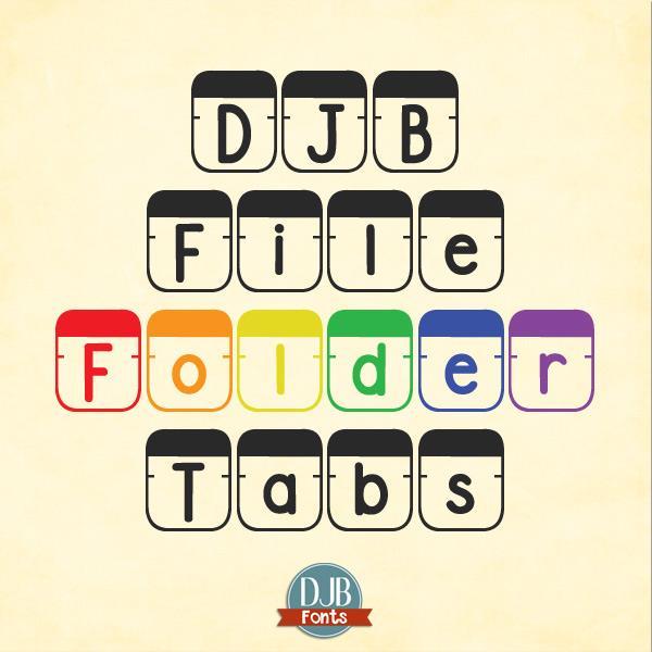 DJB File Folder Tabs font by Darcy Baldwin Fonts