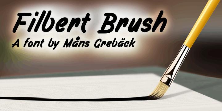 Filbert Brush PERSONAL USE ONLY font by Måns Grebäck