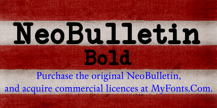 NeoBulletin Bold font by Intellecta Design