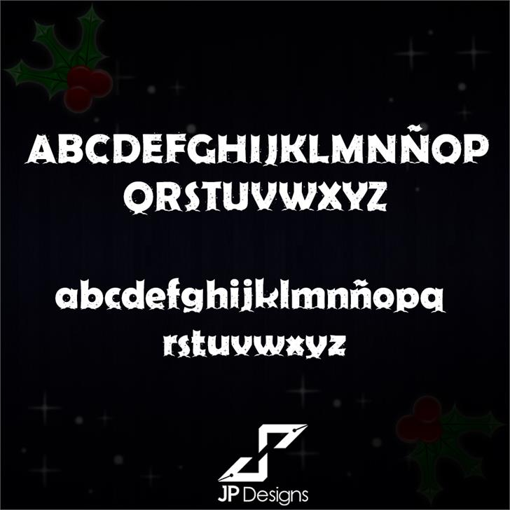 Firts Christmas II Personal USE font by LJ Design Studios
