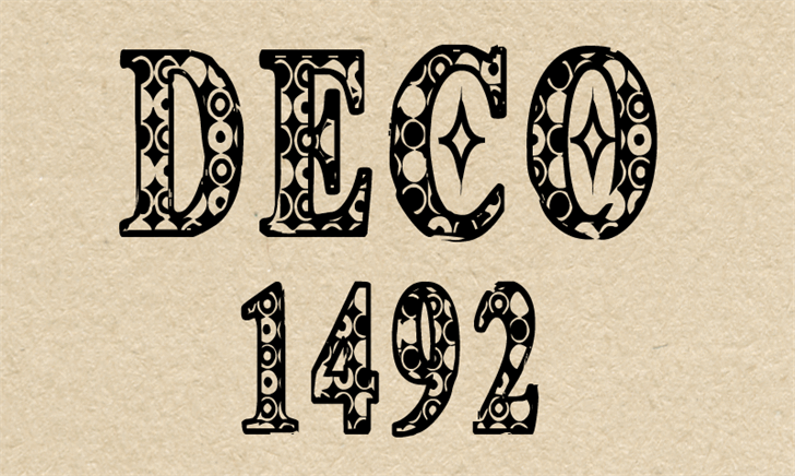 CF Deco 1492 font by CloutierFontes