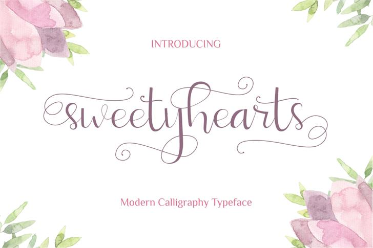 Sweetyhearts FreeVersion font by PutraCetol Studio