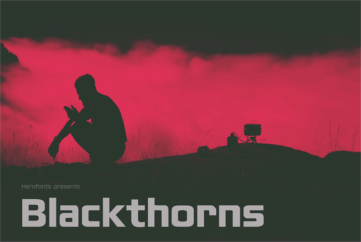 Blackthorns Demo font by Herofonts