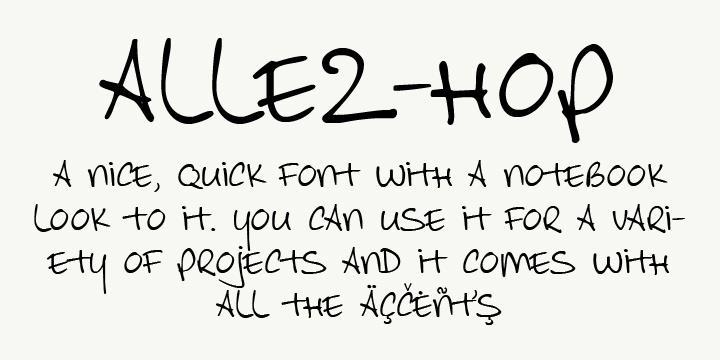 Allez Hop font by David Kerkhoff