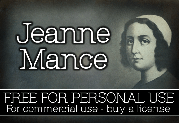 CF Jeanne Mance font by CloutierFontes