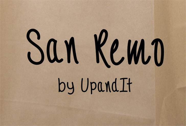 SanRemo font by UpandIt