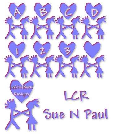 LCR Sue N Paul font by LeChefRene